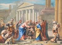 Christ healing the blind man (John 9: 1-7)