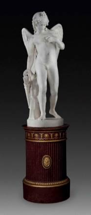 A LIFE-SIZE MARBLE FIGURE OF C