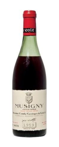 Comte Georges de Vogüé Musigny Vieilles Vignes 1959