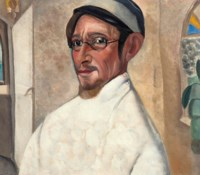 Portrait of the actor Nikolai Podgorny as Peter Trofimov in 'The Cherry Orchard' by Anton Chekov