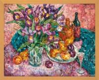 Fruit and irises