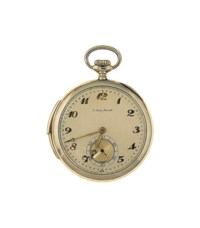 An early 20th century gold openface quarter repeating pocket watch, by Mathey-Tissot