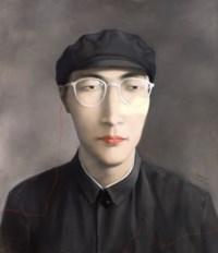 Portrait with Grey Background