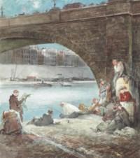 Fishing on the Seine