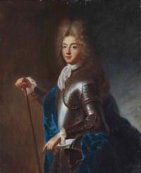 Portrait d'un jeune homme en armure