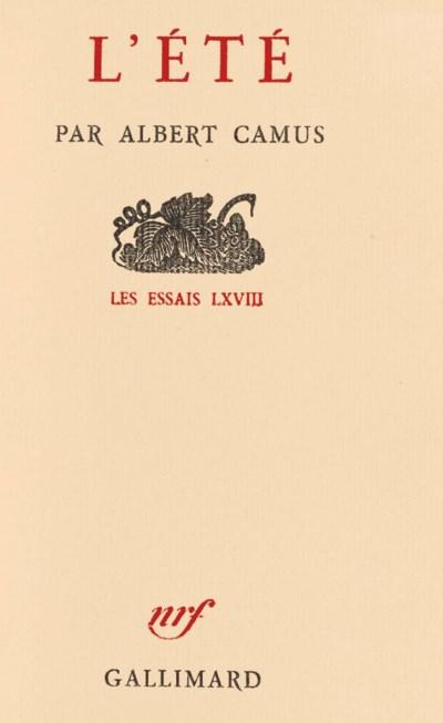 CAMUS, Albert (1913-1960). L'É