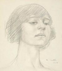 Head of Dora Carrington