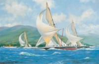 The Royal Clyde Regatta, 1895: Britannia leading her adversaries