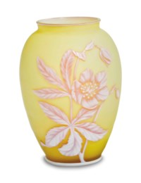 AN ENGLISH CAMEO GLASS OVOID VASE,