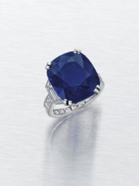 THE KELLY SAPPHIRE A MAGNIFICENT SAPPHIRE AND DIAMOND RING, BY CARTIER