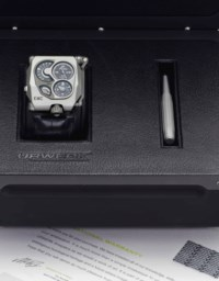 Urwerk. A Large Titanium Wristwatch with Power Reserve and Precision Indicator