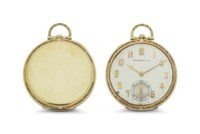 Touchon. An 18k Gold Openface Keyless Lever Pocket Watch
