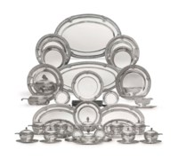 A MAGNIFICENT FRENCH SILVER DINNER SERVICE IN THE LOUIS XVI STYLE
