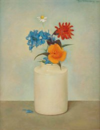 Still life with flowers in a vase