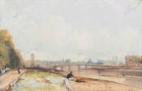 Le Pont de la Concorde with the Tuileries from the Cours de la Reine, Paris, France
