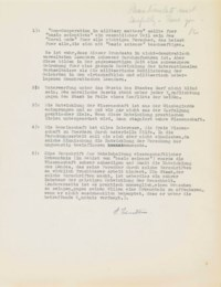 EINSTEIN, Albert (1879-1955). Typed statement signed ('A. Einstein'), setting out an ethical code for scientists, in German, enclosed with a typed letter signed ('A. Einstein') to Jacob Landau of the Overseas News Agency, Princeton, 20 January 1947, in English.