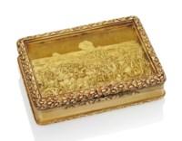 A REGENCY GOLD PRESENTATION SNUFF-BOX