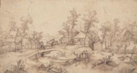 A village on a stream