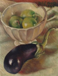 Still Life with figs and aubergine