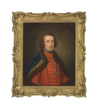 Portrait of Francis Scott, Earl of Dalkeith (1721-1750), half-length, in Hussar uniform, in a feigned oval