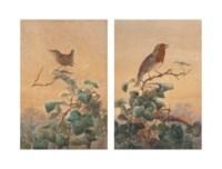 A robin; and A wren