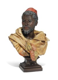 A COLD-PAINTED SPELTER MODEL OF OTHELLO