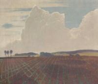 Field and thunderhead