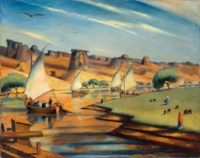 Le Nil à El Derr (Nubie) (The Nile in El Derr, Nubia)