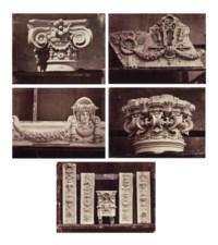 Five architectural studies from 'Le Nouvel Opéra de Paris - Sculpture Ornementale', c. 1875