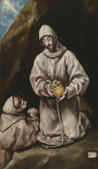 Saint Francis and Brother Leo in Meditation