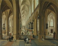 The interior of the Cathedral of Our Lady, Antwerp