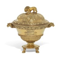 A GEORGE III SILVER-GILT RACING CUP AND COVER