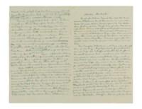 EINSTEIN, Albert (1879-1955). Autograph letter signed ('Albert') to Michele Besso, n.p., n.d. [Berlin, December 1916].