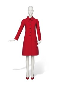 A RED DRESS COAT