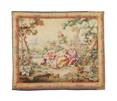 A FRENCH AUBUSSON TAPESTRY REP