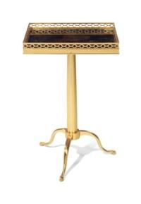 A BRASS TELESCOPING TABLE