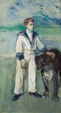 L'Enfant au chien, fils de Madame Marthe et la chienne Pamela-Taussat