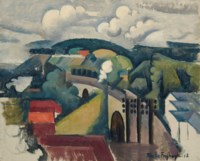 Paysage de Meulan ou Le Viaduc de Meulan, première version
