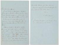 [HUGO, Victor] - DUMAS, Alexandre. Lettre autographe signée à son « bien cher Victor » [Hugo]. Sans date [circa 1860].