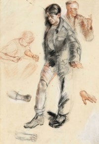 Study for 'An Advanced Dressing Station in France'