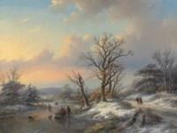 Wood gatherers on the ice