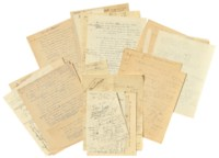 [EINSTEIN, Albert (1879-1955)]. Michele BESSO (1873-1955). Autograph scientific notes and drafts by Besso, many relating to the general theory of relativity, n.p. [Bern and Zurich], n.d. [1911-1916].