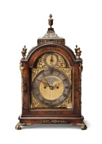 A GEORGE III GILT-BRONZE MOUNTED MAHOGANY STRIKING TABLE CLOCK WITH TRIP REPEAT