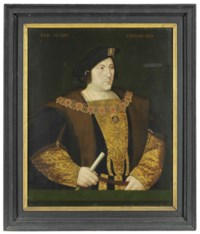 Portrait of Sir Henry Guilford, half-length, in a gold embroidered doublet, wearing the collar of the Order of the Garter