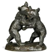 Deux ours jouant