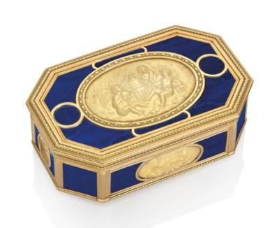 A LOUIS XVI VARI-COLOUR GOLD A