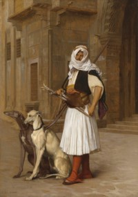 Arnaut and two Whippets