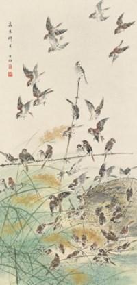 Sparrows and Hay