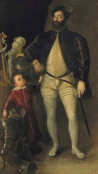 Double portrait of Guidobaldo II della Rovere, Duke of Urbino (1514-1574), and his son, Francesco Maria II (1549-1631), full-length