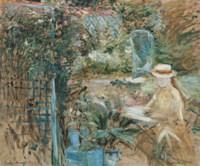 Fillette dans le jardin
